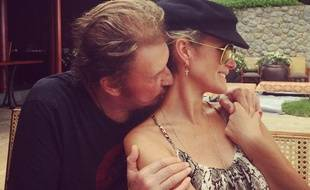 Johnny Hallyday et sa femme Laeticia sur Instagram