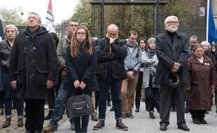 Près de 400 personnes se sont réunies à l'hôtel de ville de Nantes pour une minute de silence S.SALOM-GOMIS/