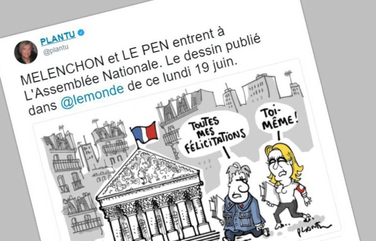 Capture d'écran d'une caricature publiée par Plantu sur Twitter le 19 juin 2017. – Plantu