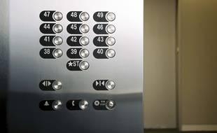 Un ascenseur. (Illustration)