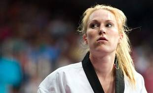 La championne de taekwondo française Marlène Harnois, lors des Jeux olympiques de Londres, le 9 août 2012.