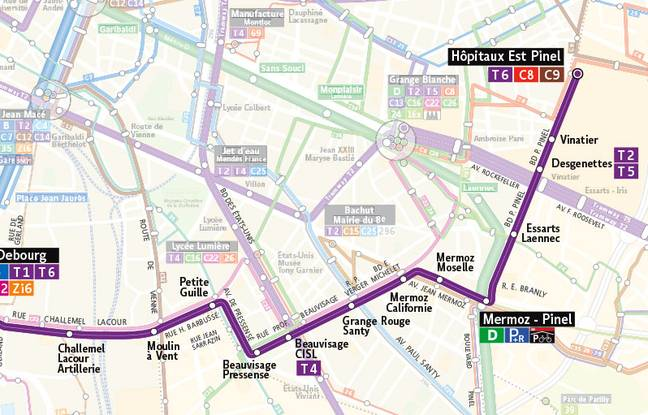 La ligne de tramway T6 reliera les villes de Bron et Vénissieux en 21 minutes.