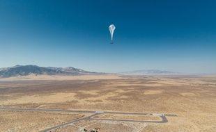 Un test de ballon-Internet de Loon (Google) dans le Nevada.
