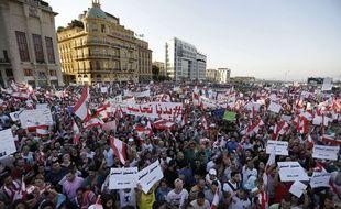 Les Libanais sont descendus en masse dans la rue ce samedi 28 août pour dénoncer le laxisme du gouvernement.