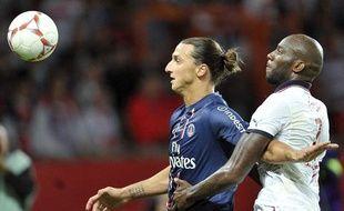 Zlatan Ibrahimovic face à Bordeaux, le 26 août 2012