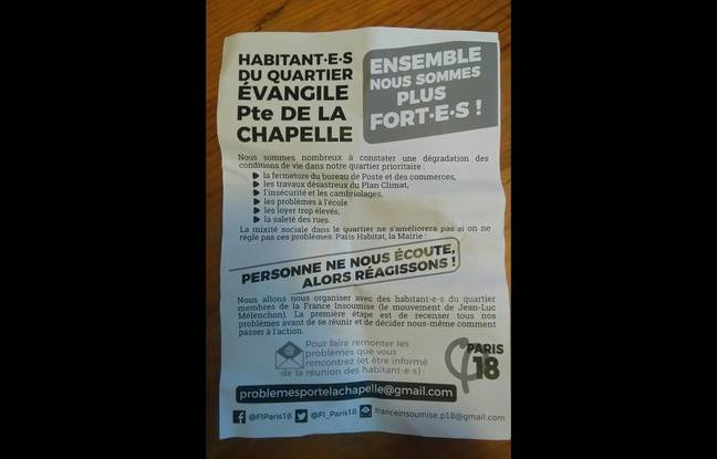 Tract de LFI Paris 18e