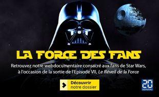 Ecran d'accueil de la 21e Minute consacrée aux fans de «Star Wars»