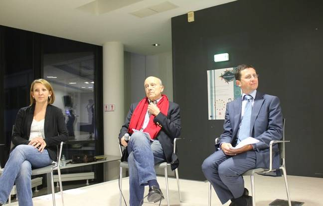 Emilie Kuziew, maire adjointe du quartier Bordeaux sud, Alain Juppé et Stephan de Faÿ, directeur général de l'établissement public Euratlantique.
