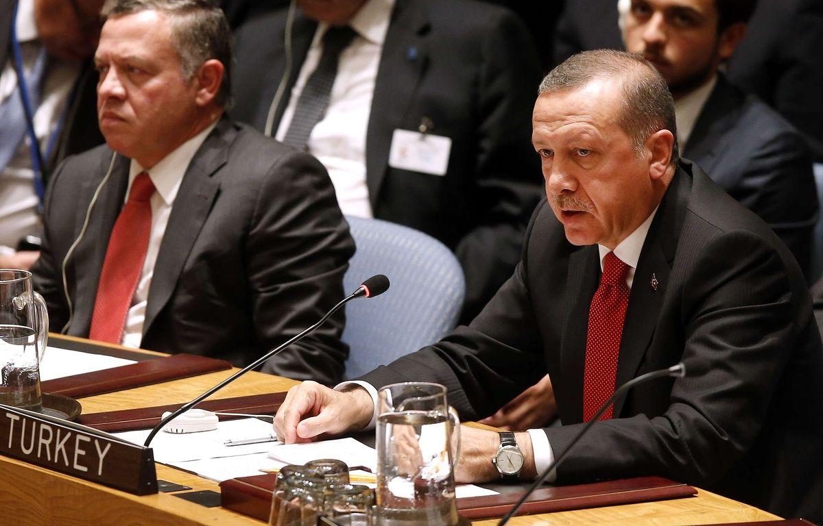 Recep Tayyib Erdogan, le président turc, le 24 septembre 2014, aux Nations Unies, à New York. –  Jason DeCrow/AP/SIPA