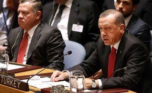 Recep Tayyib Erdogan, le président turc, le 24 septembre 2014, aux Nations Unies, à New York.