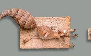 Un Scrat, l'écureuil de L'Age de glace,  aux enchères.