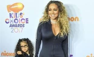 Mariah Carey et sa fille Monroe aux Kids Choice Awards.