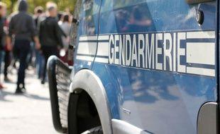 Illustration d'une voiture de gendarmerie, ici à Rennes.