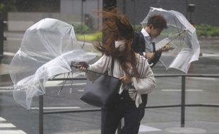Pluie et vent à Tokyo, le 21 mai 2019 (illustration).