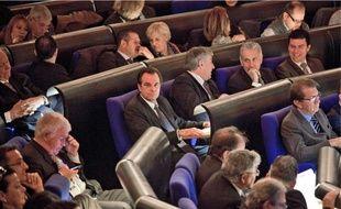 Le député UMP Renaud Muselier (au centre) a appelé à «un sursaut républicain».