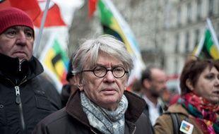 Jean-Claude Mailly, numéro 1 de Force Ouvrière, le 24 mars 2016 à Paris.