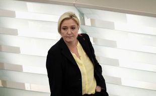 Marine Le Pen à son arrivée le 15 décembre au parlement européen à Strasbourg