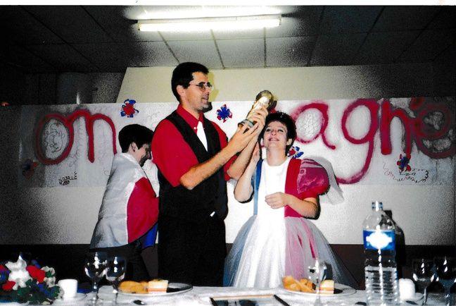 Marc et Catherine à leur mariage.