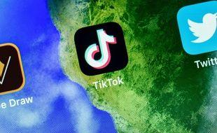 Les applications TikTok et Twitter sur un smartphone.