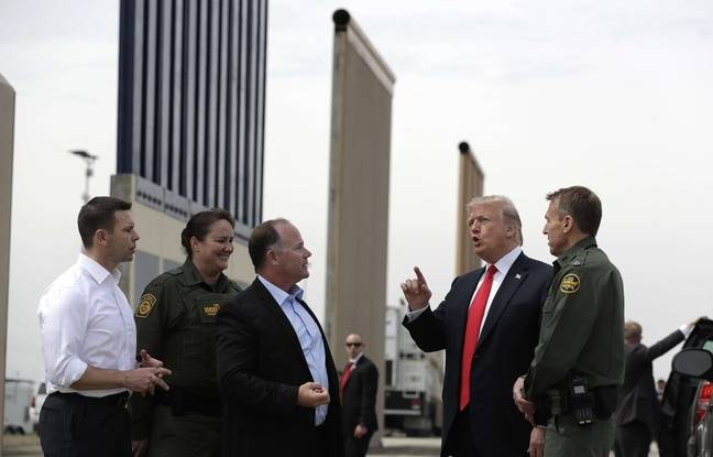 En Californie, Trump inspecte des prototypes d'un mur toujours pas financé Nouvel Ordre Mondial, Nouvel Ordre Mondial Actualit�, Nouvel Ordre Mondial illuminati