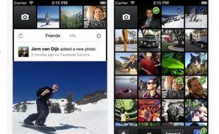 Capture d'écran de Facebook Camera sur l'Apple Store.