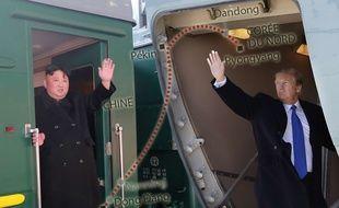 Kim Jong-un et Donald Trump se rendent à Hanoï pour leur second sommet (montage).
