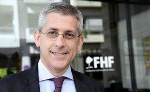Frédéric Valletoux, président de la Fédération Hospitalière de France (FHF), le 10 avril 2014 à Paris
