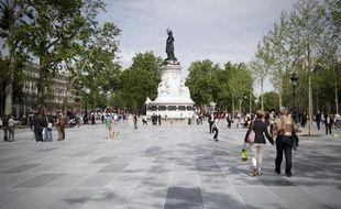 La place de la République, à Paris, le 16 juin 2013.