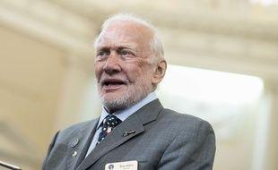 L'ex astronaute Buzz Aldrin le 15 novembre 2016.