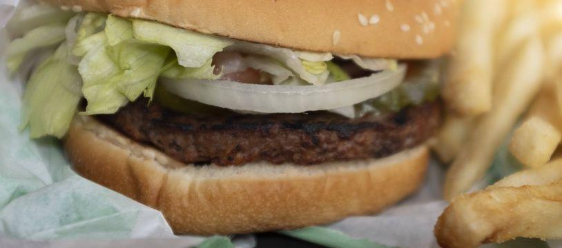 Ceci est un burger végétarien.