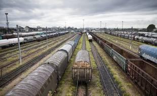Illustration d'une gare de triage SNCF. V. Wartner / 20 Minutes