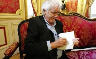 Henning Mankell, écriain de polar suédois, à Lyon, le 28 mars 2013.