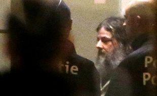 Le pédophile belge, Marc Dutroux, le 4 février 2013 au palais de justice de Bruxelles (Belgique).