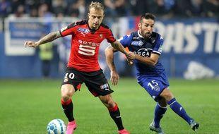 Kamil Grosicki, ici lors d'un match contre Bastia la saison dernière, a encore justifié son statut de super-sub, avec un but et une passe décisive en sortie de banc.