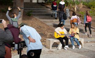 Sur le tournage d'Askip