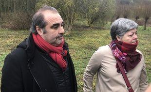 Jean-Michel Bérégovoy et Françoise Lesconnec, adjointe écolo, chargée de l'Environnement.
