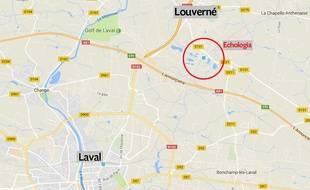 Le site Echologia, près de Laval, en Mayenne.