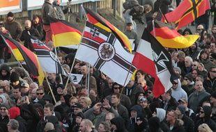 Manifestation d'extrême droite à Cologne le 9 janvier 2016.