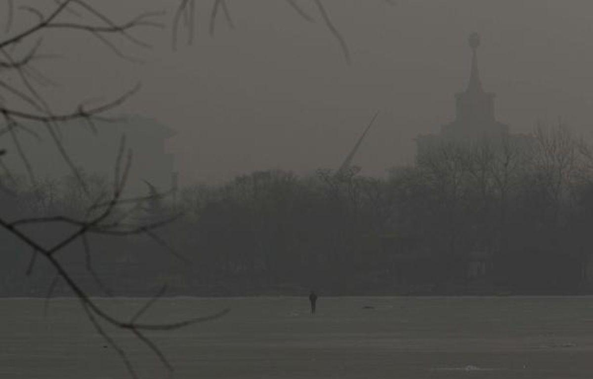 Pic de pollution à Pékin le 14 janvier 2013. – Alexander F. Yuan/AP/SIPA