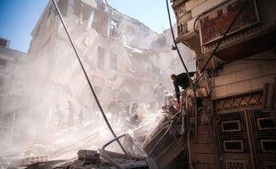 Le raid aérien a fait 58 morts dont 11 enfants, dans la ville de Khan Cheikhoun, le 4 avril 2017.
