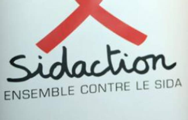 Le logo du Sidaction lors du lancement de la 16e édition, à Paris, le 3 mars 2010.