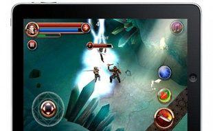Le jeux Dungeon Hunter HD, de GameLoft, sur iPad (photo-montage)