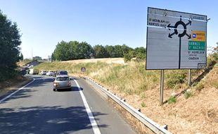 L'objectif est de diminuer les encombrements de la bretelle d'accès au rond-point d'Ar mor, à Saint-Herblain.