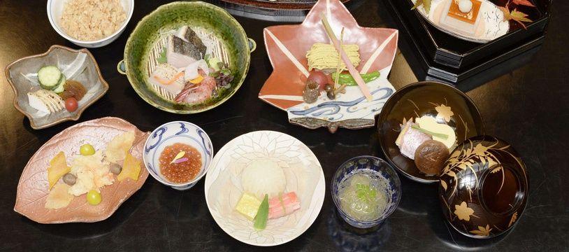 Un restaurant de cuisine japonaise kappo (illustration).