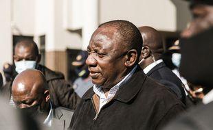 Le président d'Afrique de Sud, Cyril Ramaphosa, à Durban le 16 juillet.