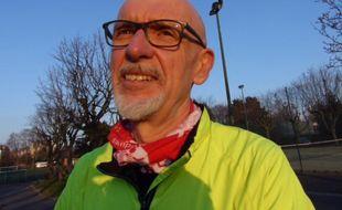 Georges Salines, le président de l'association «13 Novembre : fraternité et vérité», est un passionné de course à pied.