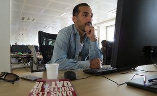 Zahir Belounis à la rédaction de 20 Minutes, le 19 mai 2015.
