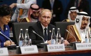 Vladimir Poutine lors du G20 le 15 novembre 2014 à Brisbane