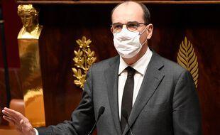 Jean Castex devant l'Assemblée nationale, le 29 octobre 2020.
