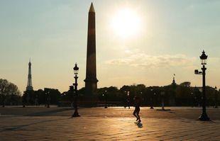 Place de la Concorde, à Paris, le 10 avril 2020.